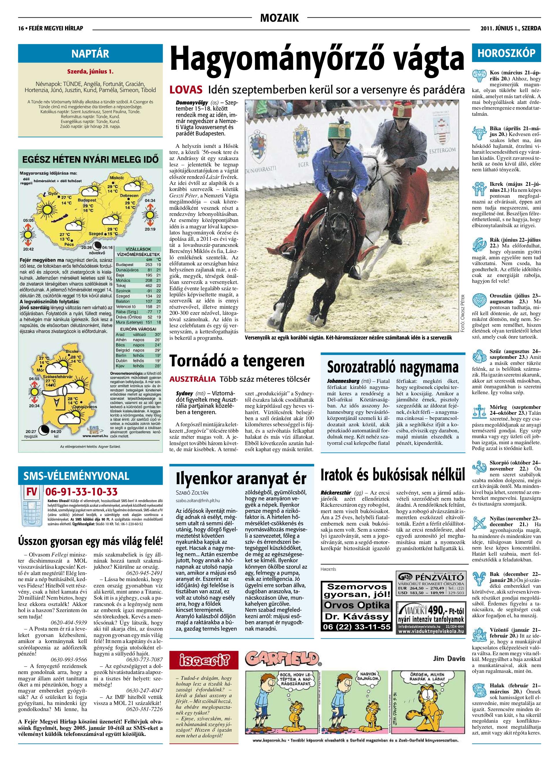Fehér Megyei Hírlap - 2011.06.01.